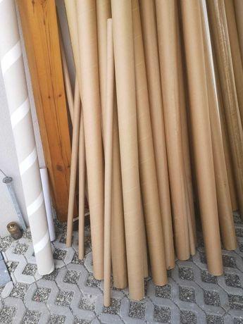 Rolki tekturowe po materiałach tekstylnych