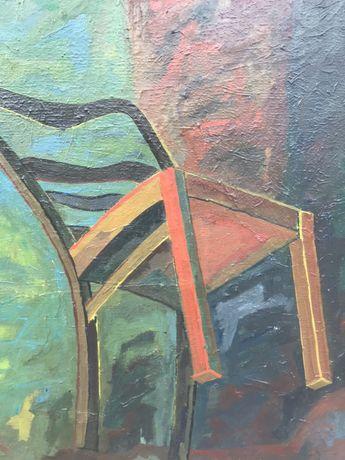 Obraz olejny -płótno krzesło lata 30