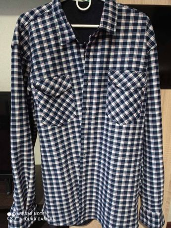 Теплая мужская рубашка