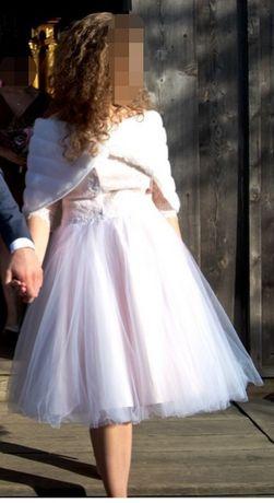 Krótka sukienka na ślub, wesele, cywilny