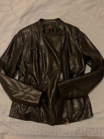 Женская Деми куртка кожзам, кожанка, весна-осень