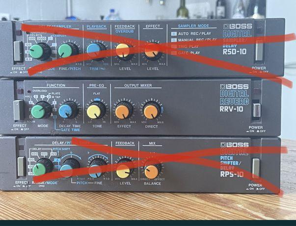 BOSS RRV-10 digital reverb vintage efekt mini rack unikat