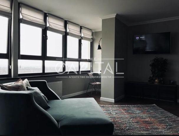 уютная, видовая квартира-студия 43 кв.м на 22 этаже, м.Теремки