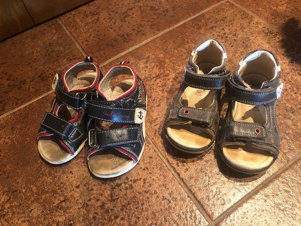 Sandałki chłopięce Coccodrillo r.23 Lasocki r.23 skórzane 2 pary