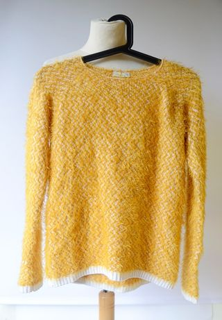 Sweter Włochaty Name It Włochacz Żółty 146 152 cm 11 12 lat Zara H&M