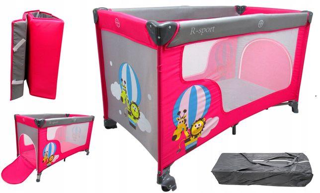 Łóżeczko Turystyczne Kojec Dla Dziecka R-Sport K2 Różowe