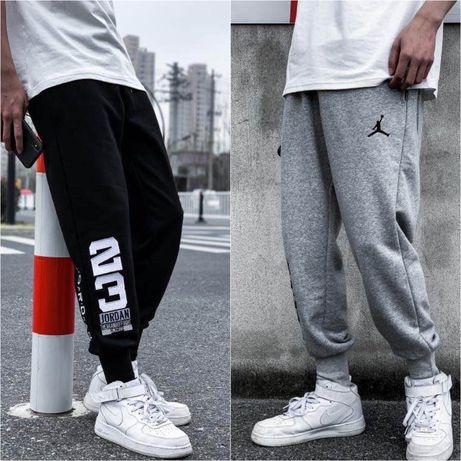 Спортивные штаны джордан на манжетах Nike air Jordan 23 черные серые