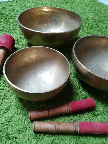 Taças tibetanas artesanais 7 metais