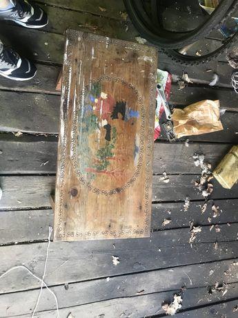 Stolik ławka z rysunkiem Rumcajs