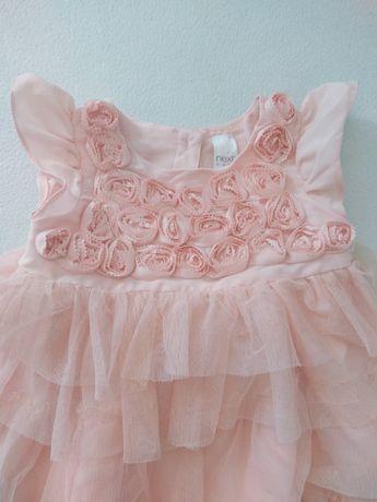 Sukienka wizytowa Next 74 pudrowy róż