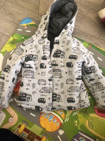 куртка на мальчика двухсторонняя
