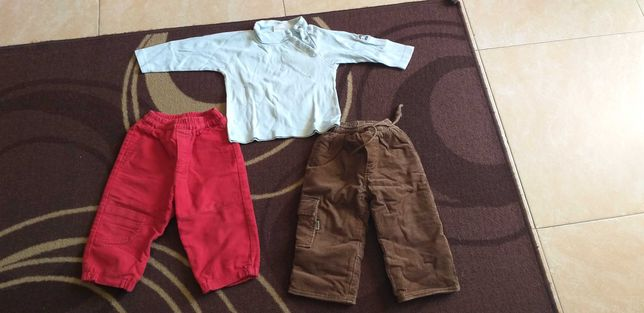 calças camisa menino 18meses 24 meses (2 anos)