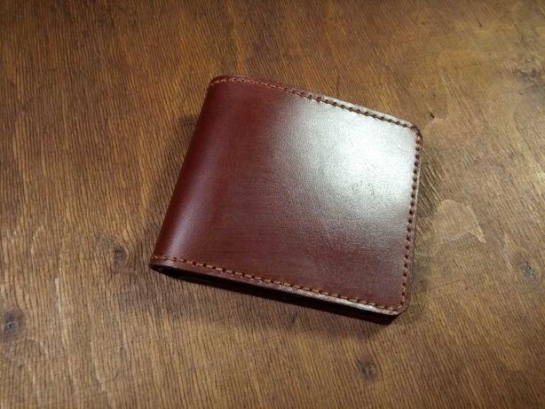 Шкіряний гаманець біфолд. (Кожаный кошелёк бифолд)