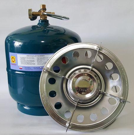 BUTLA gazowa turystyczna 3 kg + kuchenka supermagnum 3kW = TANI ZESTAW