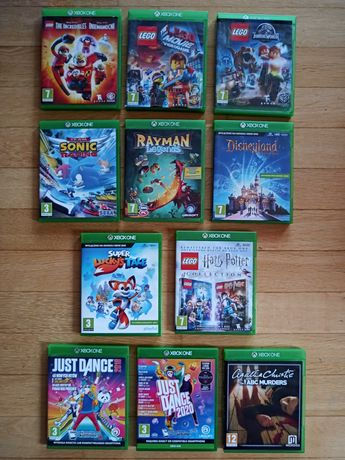 Gra gry xbox one - just dance, lego, super Lucky's tale, rayman, harry