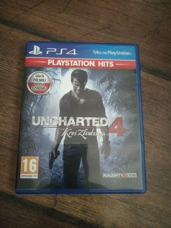 Gra uncharted 4, ps4, stan idealny