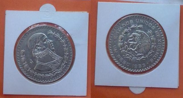 Мексика. Гералиссимус - 1 песо, серебро,1963,1966