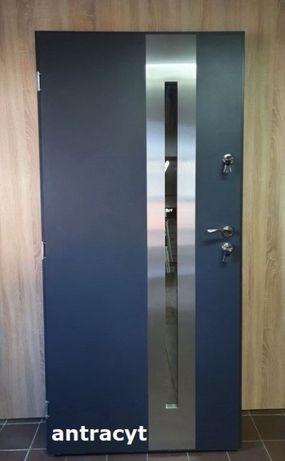 """Drzwi zewnętrzne 80, 90 model """"RON"""" Produkt POLSKI SZYBKA DOSTAWA"""