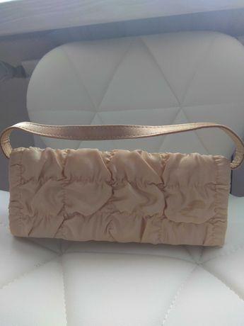Damska mala torebka złota 11x26