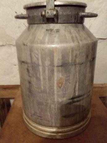 Бидон молочный алюминиевый 40 л. СССР.
