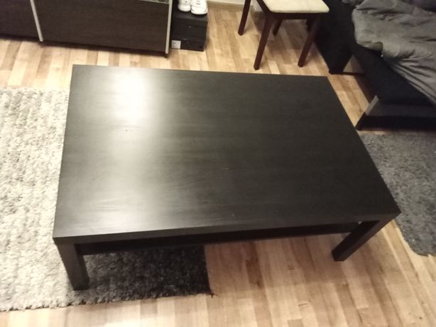 stolik kawowy Ikea czarny wym 120x80