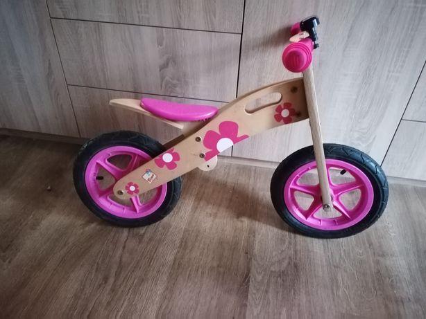 Rowerek biegowy dziewczęcy drewniany
