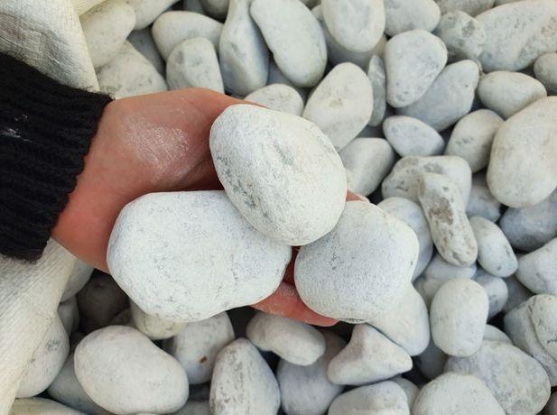 Bianco di Carrara - biały otoczak Włoski marmur 4-6 cm
