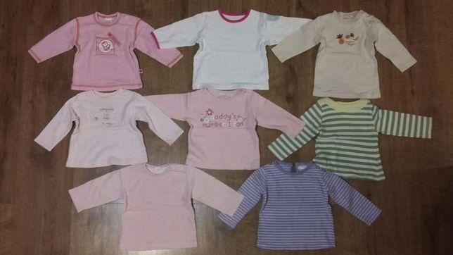 Zestaw- bluzka, bluzki,bluzeczki dla dziewczynki -8 szt, 62/68 (3-6 m)
