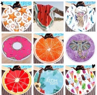 Пляжные круглые коврики полотенца
