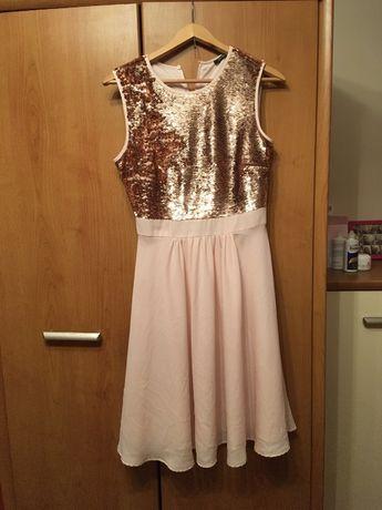 Sukienka cekinowa, wesele, połowinki, studniówka, S, 36, Orsay