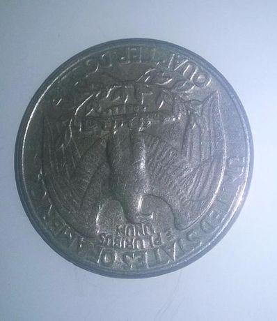 Монета Quarter Dollar LIBERTY США перевертыш 1983г