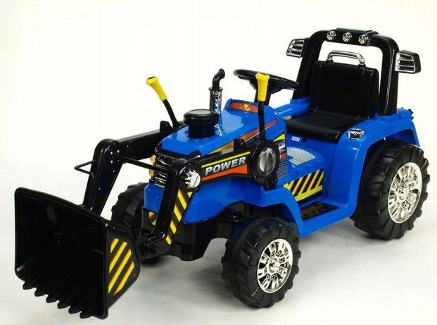 Traktor koparka elektryczna na akumulator z pilotem Traktorek