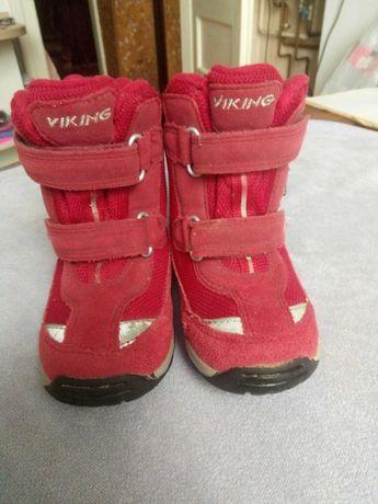 Зимові термо черевики, ботинки Viking gore-tex розмір 25
