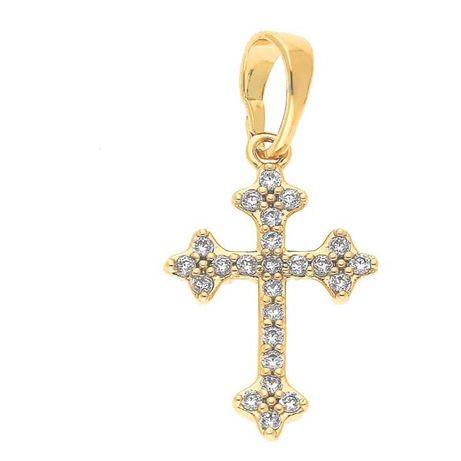 Zawieszka Krzyż złota stal chirurgiczna cudo :)