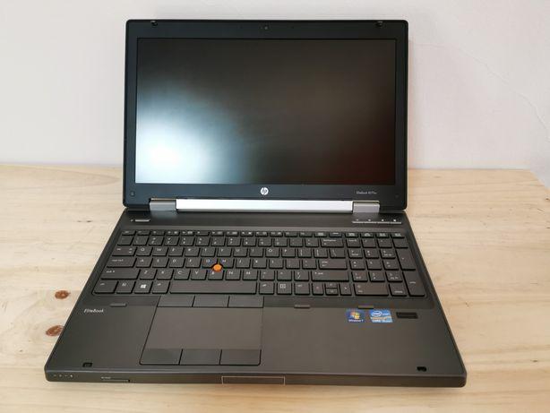 HP Elitebook 8570w, 15,6 FHD, Core i5, 16Gb RAM, 240GB SSD Workstation