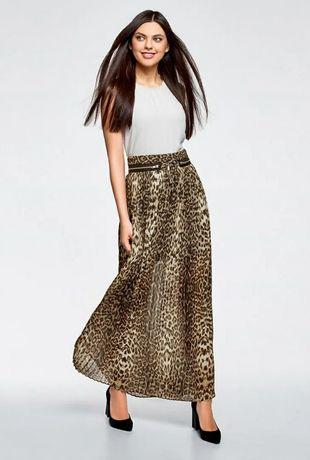 Стильная леопардовая юбка в пол от Oodji юбка-миди с леопард