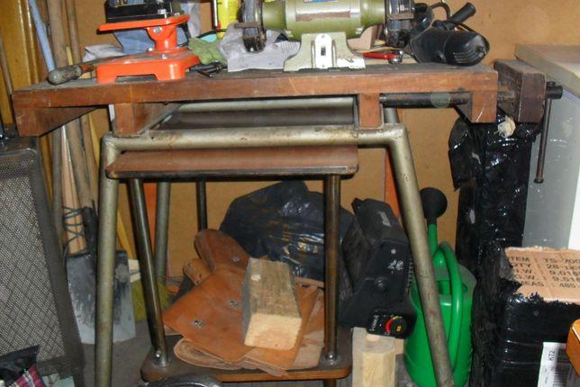 stół warsztatowy na dwa stanowiska 2 imadła