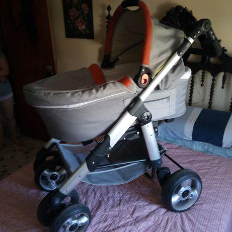 Trio carrinho bébé com alcofa cama e transporte Zippy