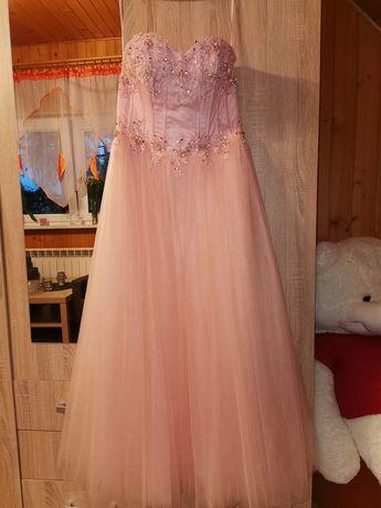 Sukienka długa z gorsetem na wesele