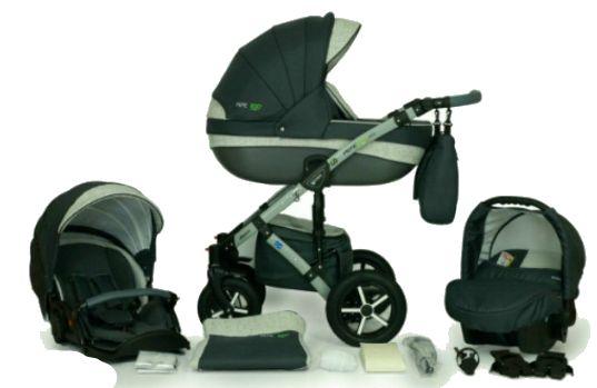 Wózek dziecięcy Verdi Peppe Plus 3w1 - gondola, spacerówka i nosidełko