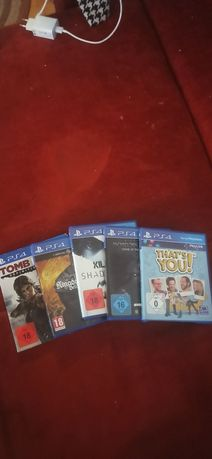 Диски для PS 4 (Killzone Shadow Fall, Mordors schatten, Tomb Raider)