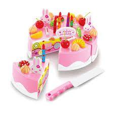 tort urodzinowy dla dzieci torcik 37 elementów rzepy zestaw