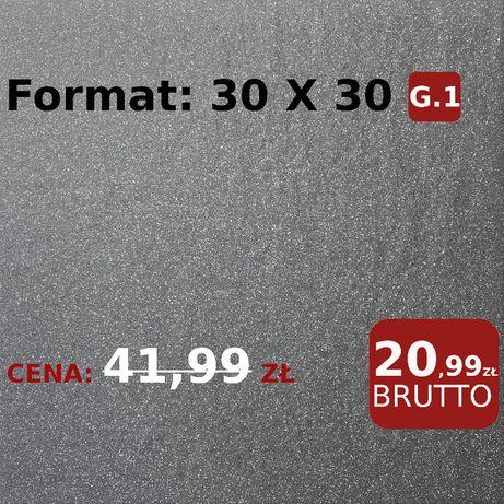 Płytki GRES techniczny Struktura 30X30 G1 Grafit GRESY WYPRZEDAŻ -50%