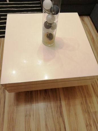 Ława stolik TRISTA obrotowy biały połysk
