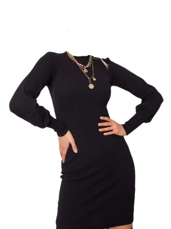 Sukienka z bufiastymi rękawami rozmiar L