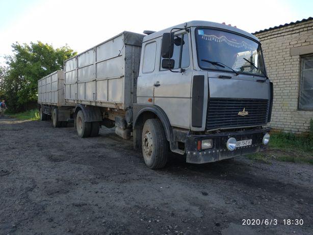 Продам МАЗ 53366 зерновоз с прицепом