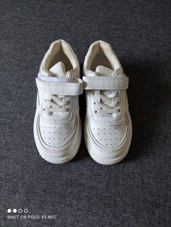 Кроссовки детские, белые кроссы