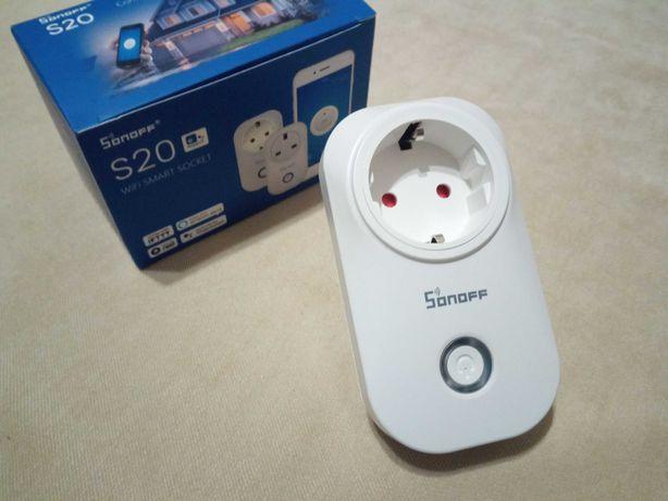 Умная розетка Sonoff S20 с управлением через WIFI соединение