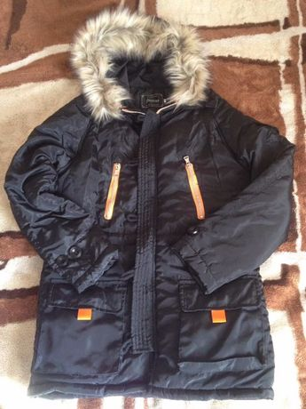 Зимняя куртка парка для подростка (мальчику, девочке), размер М