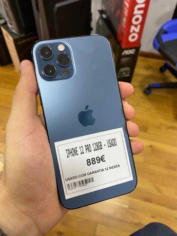 iPhone 12 Pro 128GB Azul Pacifico Seminovo Grade A - Garantia